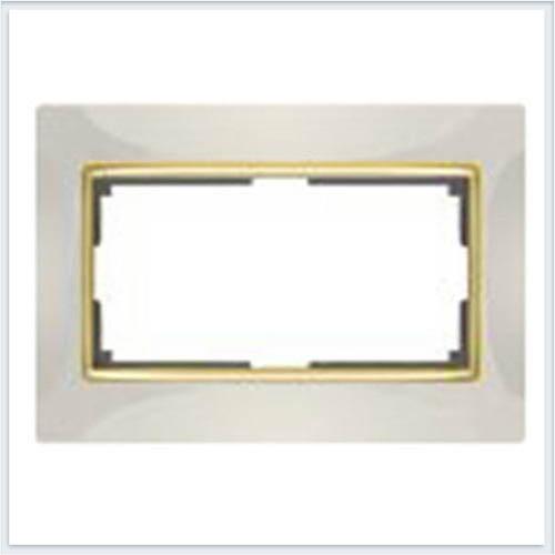 Werkel WL03-Frame-01-DBL-ivory Рамка для двойной розетки слоновая кость