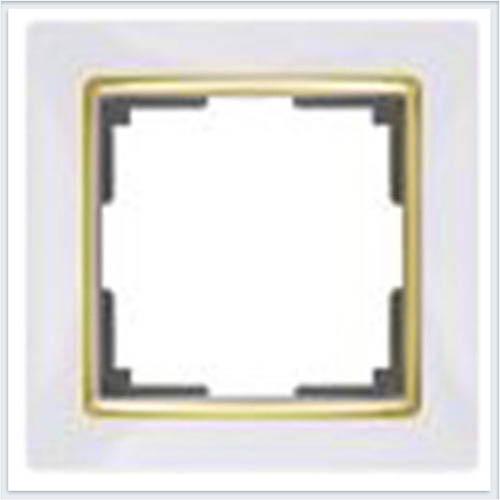 Werkel WL03-Frame-01-white-GD Рамка на 1 пост белый/золото