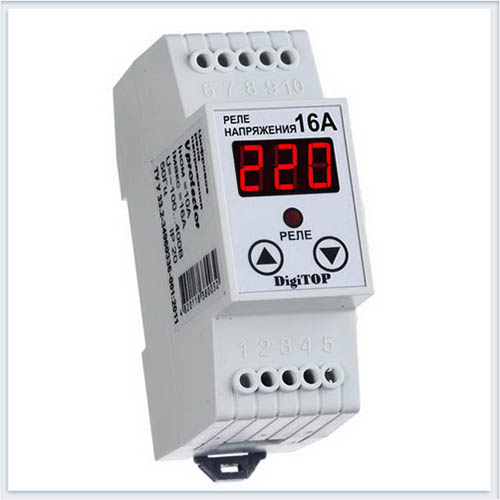 Реле напряжения, Vp-16А, Измерительные приборы, Реле напряжения DigiTOP
