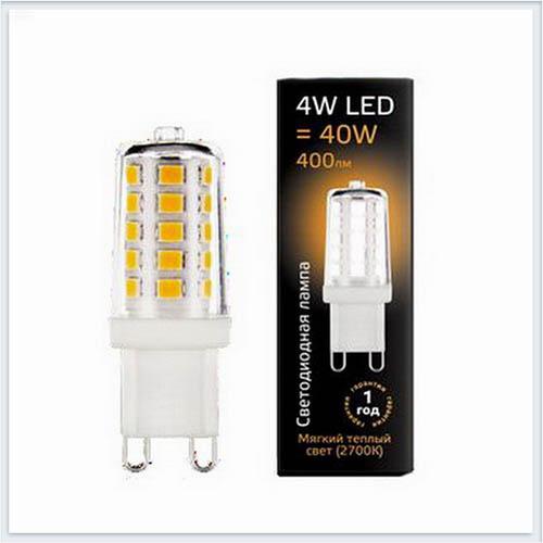 Лампа gauss светодиодная капсульная G9 4W 2700K — 107309104