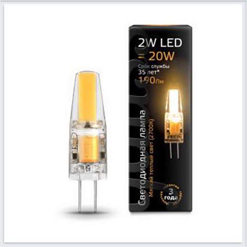Лампа Gauss светодиодная LED патрон G4 AC220-240V 2W 2700K - 107707102