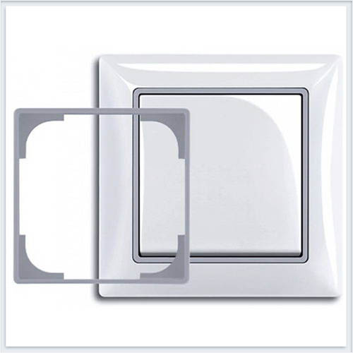Серебристый металлик Вставка декоративная в рамку ABB Basic 55 1726-0-0223