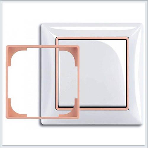 Абрикосовый Вставка декоративная в рамку ABB Basic 55 1726-0-0227