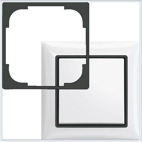 Вставка декоративная, серия Basic 55, цвет шато — чёрный ABB Basic 55 1726-0-0232