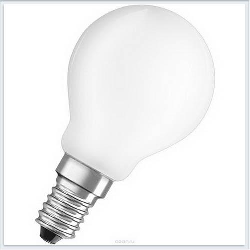 Лампа светодиодная Osram шарик P60 6.5W 3000K (=60W) 220-240V FR E14 550lm - купить лампу