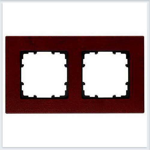 Siemens Delta miro wood Рамка 2 поста красный клён - 5TG11022