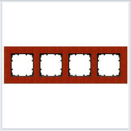 Siemens Delta miro wood Рамка 4 поста красный клён - 5TG11042