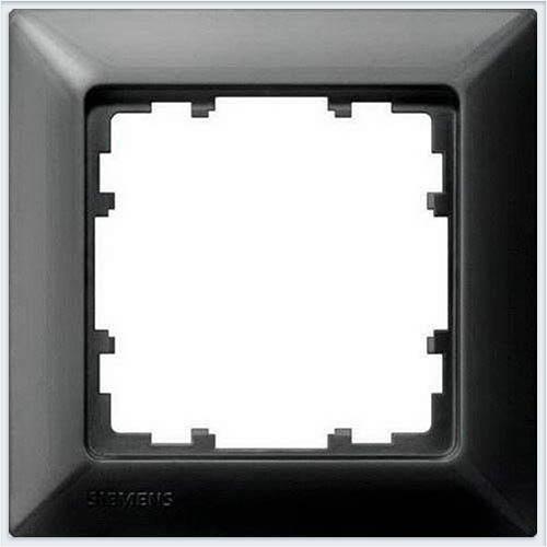 Siemens Delta line Рамка 1 пост чёрный металлик - 5TG25516