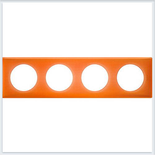 Рамка 4-ая Муар оранжевый Legrand Celiane 66654