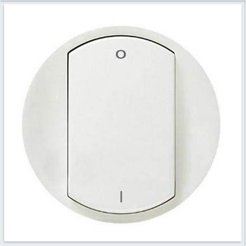 Лицевая панель для выключателя двухполюсного белая. Legrand Celiane 68021