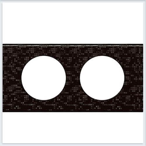 Рамка 2-ая Кожа блэк пиксел Legrand Celiane 69452