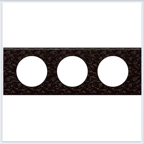Рамка 3-ая Кожа блэк пиксел Legrand Celiane 69453