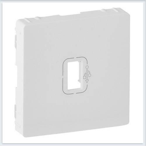 Розетка USB 3 0 с подключенным кабелем 15см и разьемом с лицевой панелью Белая Valena Life 754750
