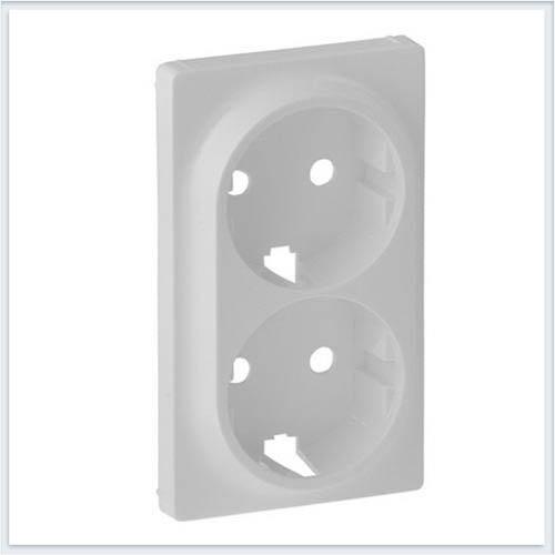 Накладка для двойной силовой розетки 2х2К+З Белая Valena Life 754950