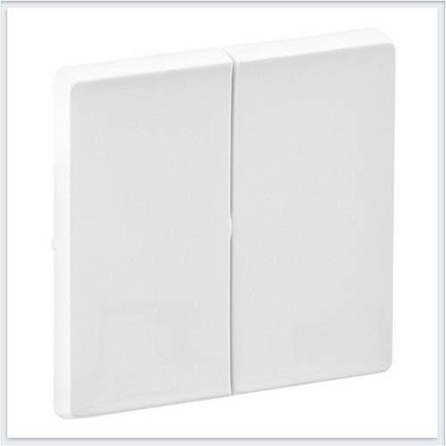 Накладка для двухклавишного выключателя Белая Valena Life 755020