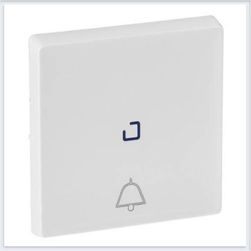 Клавиша для кнопочного выключателя с символом звонок c линзой для подсветки Белая Valena Life 755050