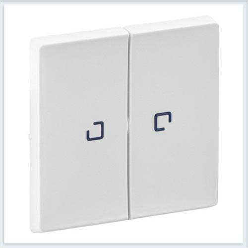 Клавиши для выключателя двухклавишного с подсветкой Белая Valena Life 755220