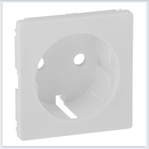 Накладка для силовой розетки 2К+З с зажимами 6кв мм Белая Valena Life 755250