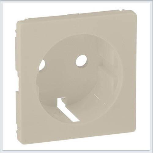 Накладка для силовой розетки 2К+З с зажимами 6кв мм Слоновая кость Valena Life 755251