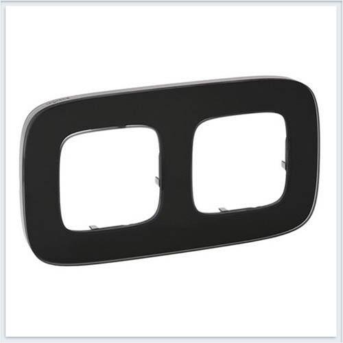 Valena Allure Рамка 2-ая Черное стекло 755532