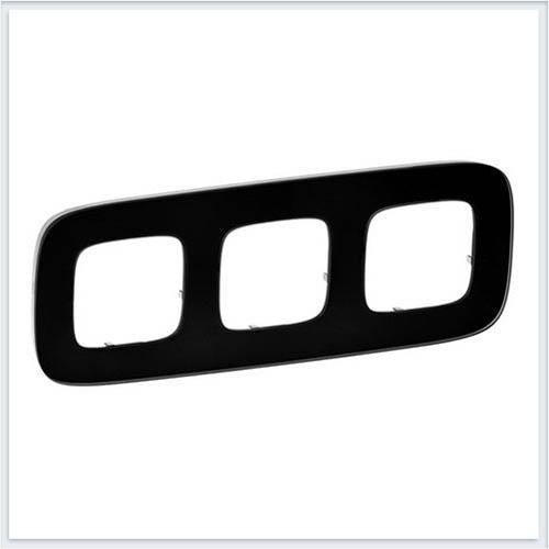 Valena Allure Рамка 3-ая Черное стекло 755533