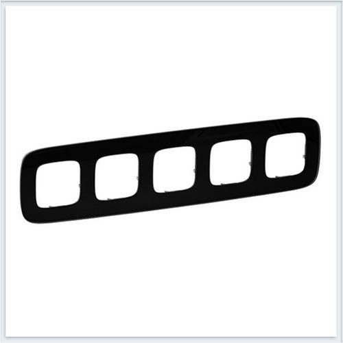 Valena Allure Рамка 5-ая Черное стекло 755535
