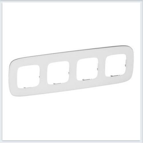 Valena Allure Рамка 4-ая Белое стекло 755544