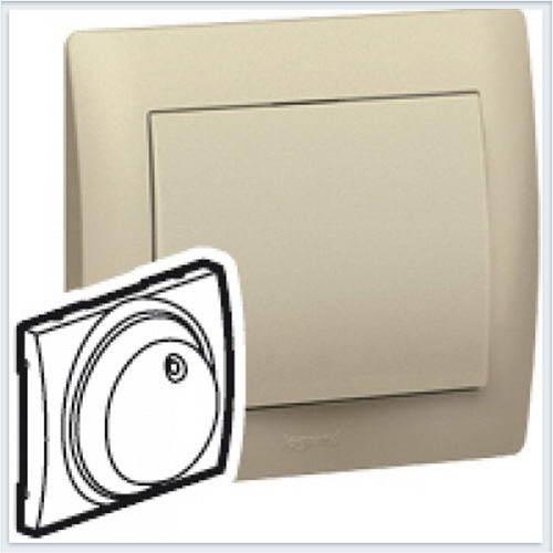 Накладка Светорегулятора поворотного с подсветкой Legrand Galea Life Титан 771169