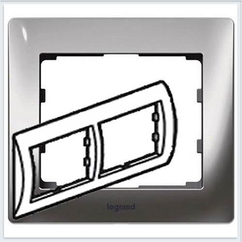 Хром/Chrome Рамка 2-я горизонтальная Legrand Galea Life  771932