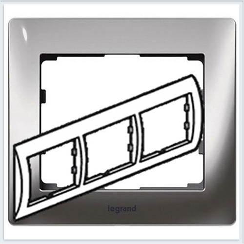 Хром/Chrome Рамка 3-я горизонтальная Legrand Galea Life  771933