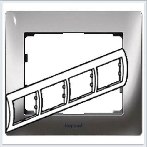 Хром/Chrome Рамка 4-я горизонтальная Legrand Galea Life  771934