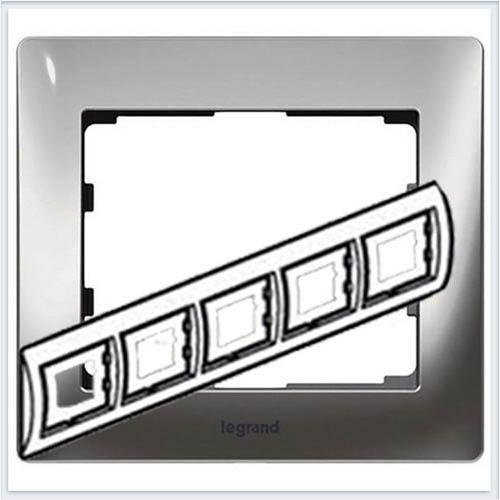 Хром/Chrome Рамка 5-я горизонтальная Legrand Galea Life  771935