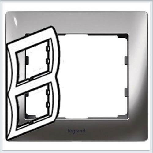 Хром/Chrome Рамка 2-я вертикальная Legrand Galea Life  771936