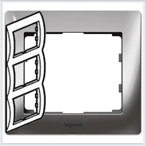 Хром/Chrome Рамка 3-я вертикальная Legrand Galea Life  771937