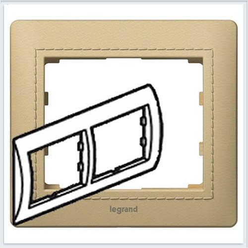 Светлая Кожа/Havana Рамка 2-я горизонтальная Legrand Galea Life  771991