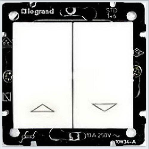 Выключатель жалюзийный кнопочный Белый Legrand Valena 774414