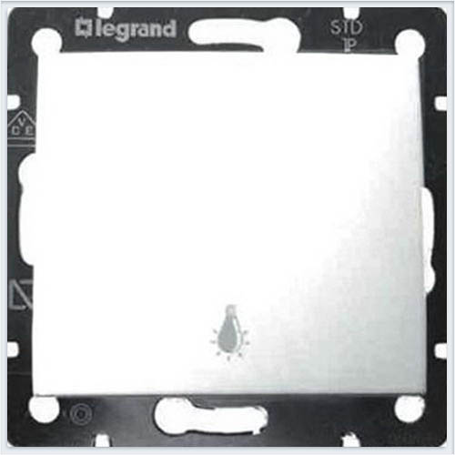 Выключатель кнопочный 1-клавишный с символом лампа Белый Legrand Valena 774412