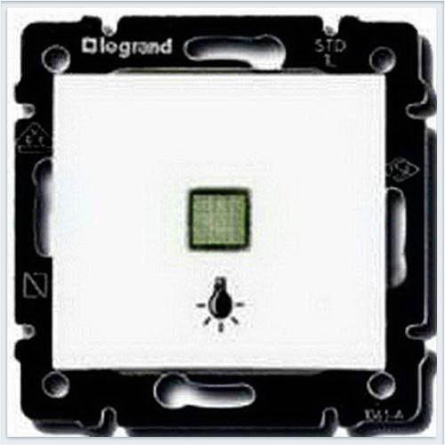 Выключатель кнопочный 1-клавишный с подсветкой и с симовлом лампа Белый Legrand Valena 774413