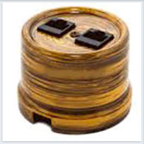 Bironi компьютерная розетка фарфор, декор императорский бамбук B1-302-01/IB