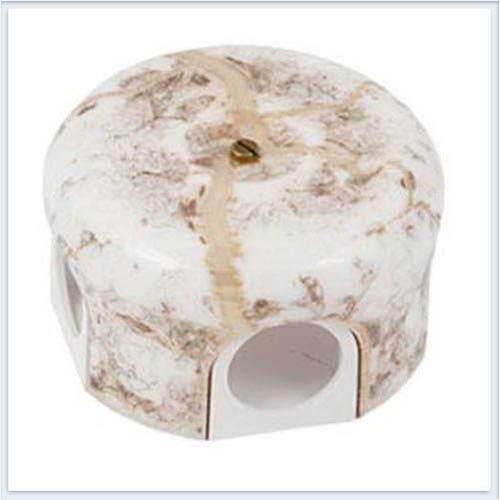 Bironi распределительная коробка, фарфор цвет мрамор 78 мм. B1-521-09