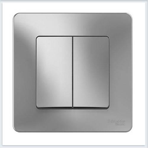 Blanca Алюминий Выключатель 2-клавишный, 10А, 250B