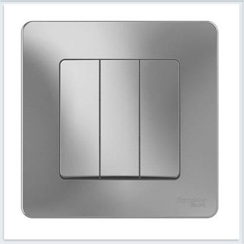 Blanca Алюминий Выключатель 3-клавишный, 10А, 250B