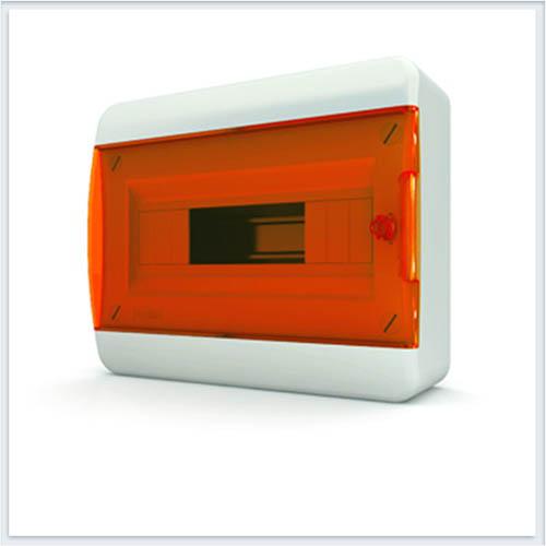 Щит навесной 12 модулей оранжевая дверь Tekfor - BNO 40-12-1