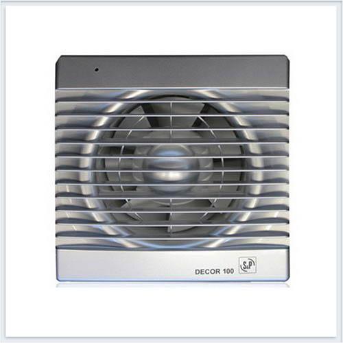 Вентилятор бытовой серебро Decor 100C SILVER Soler Palau