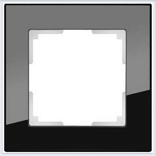 Рамка на 1 пост черное стекло Werkel (Веркель) Коллекция Favorit - WL01-Frame-01