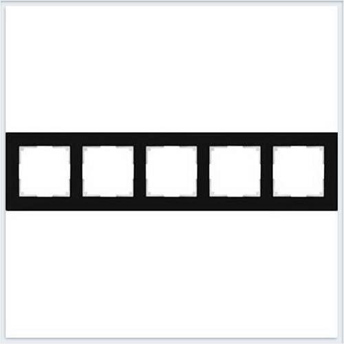 Рамка на 5 постов черное стекло Werkel (Веркель) Коллекция Favorit - WL01-Frame-05