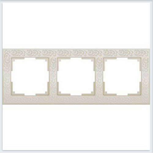 Рамка на 3 поста слоновая кость Werkel (Веркель) Коллекция Flock - WL05-Frame-03