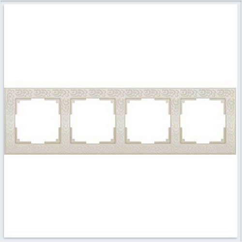 Рамка на 4 поста слоновая кость Werkel (Веркель) Коллекция Flock - WL05-Frame-04
