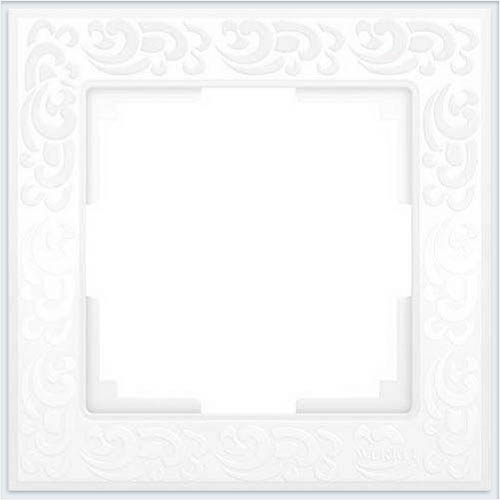 Рамка на 1 пост белая Werkel (Веркель) Коллекция Flock - WL05-Frame-01
