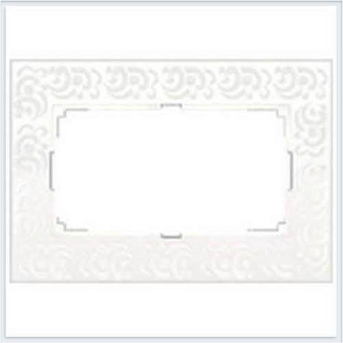 Рамка для двойной розетки белая Werkel (Веркель) Коллекция Flock - WL05-Frame-01-DBL